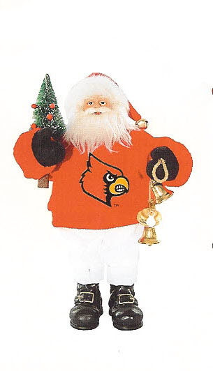 Santa Doll Louisville Cardinals - Click Image to Close