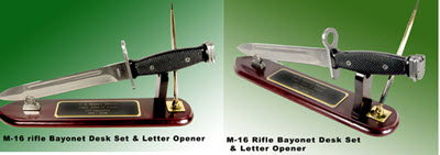 M-16 Bayonet desk set /letter opener/ award USMC - Click Image to Close