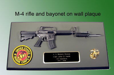 M-4 Rifle wall plaque - Click Image to Close