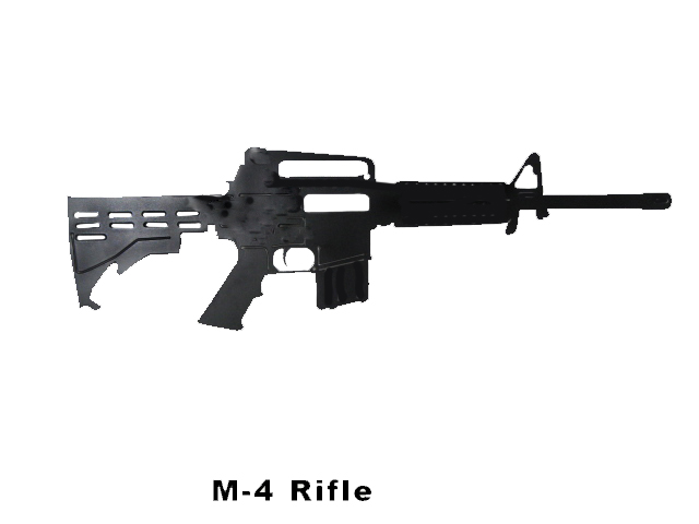 M-4 rifle cut out metal - Click Image to Close