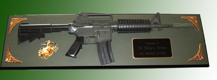 M-4 rifle wall plaque award ( Full Size Rifle ) - Click Image to Close