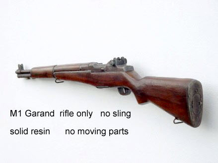 U.S. M1 Garand rifle solid resin - Click Image to Close
