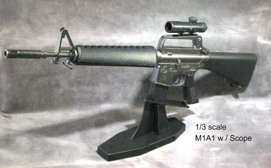 1/3 scale M16A1 with scope - Click Image to Close