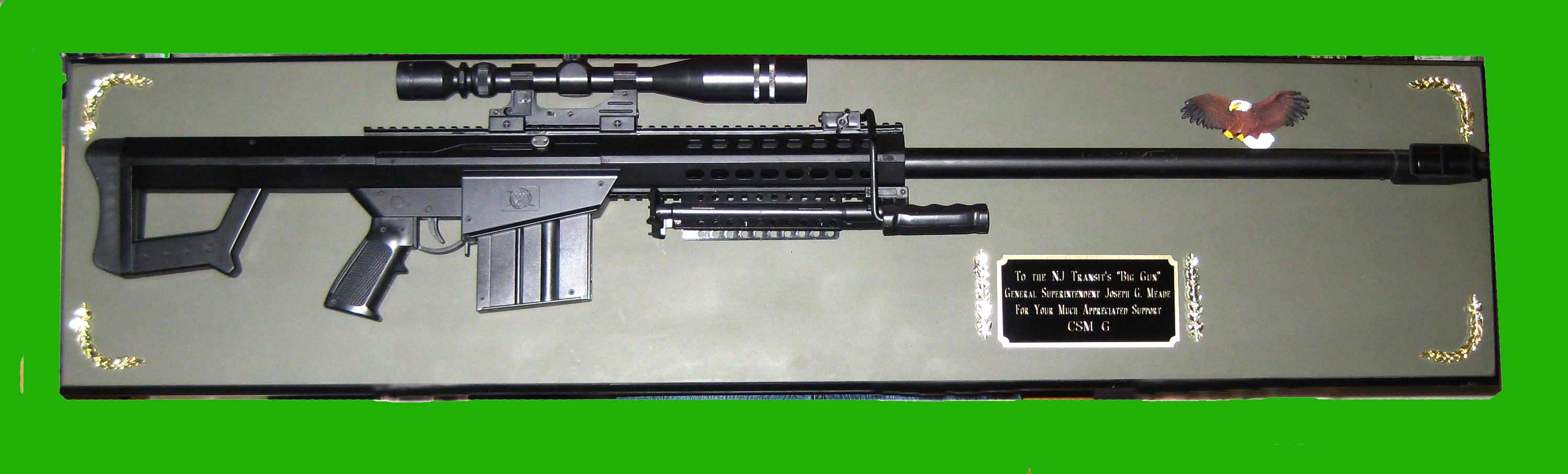 Award M281A1 Barrett sniper rifle full size - Click Image to Close