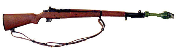 U.S. M1 Garand with grenade launcher - Click Image to Close