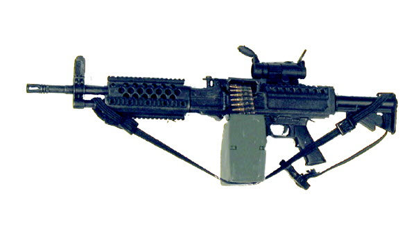 U.S. M-249 SAWS machine gun w/scope - Click Image to Close