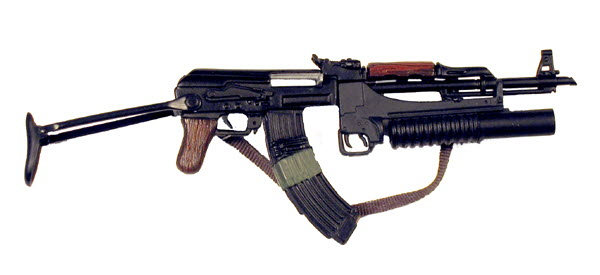 AK-47 With M203 grenade launcher (Special ops used) - Click Image to Close