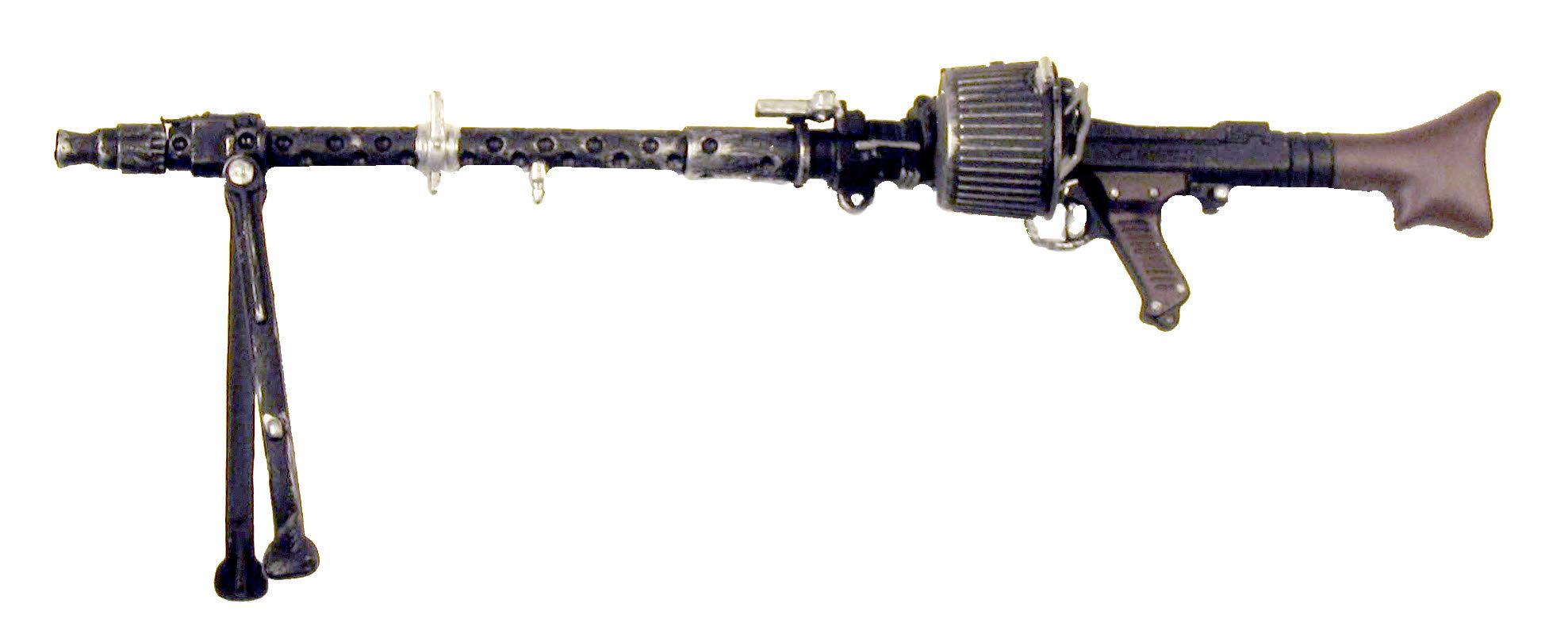 German MG-34 w/rd ammo can - Click Image to Close