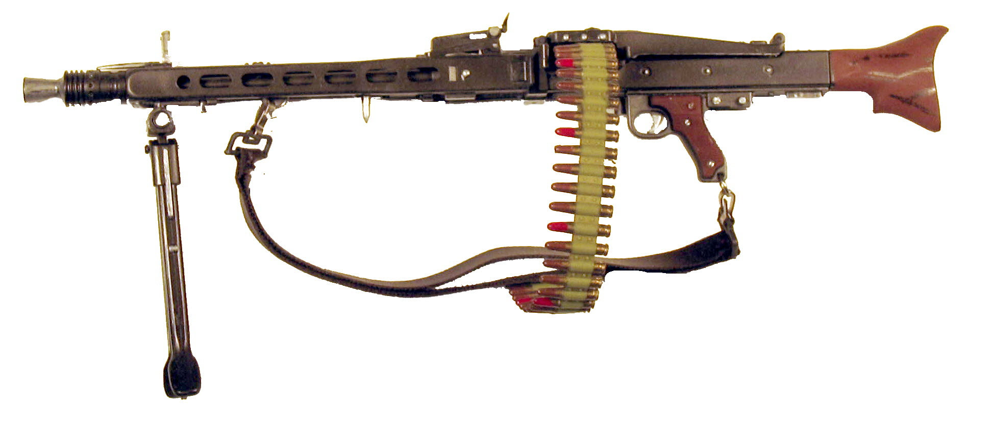 German MG-42 w/ammo belt - Click Image to Close