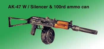 Russian AK-74 With silencer and 100rd ammo can - Click Image to Close