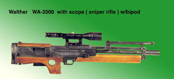 U.S. WA-2000 With mil spec scope ( Day scope ) - Click Image to Close