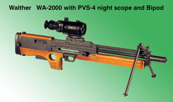U.S. WA-2000 With PVS-4 night scope & Bipod