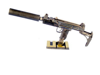 Israeli Uzi with silencer ( Very short supply) 1/5 scale size - Click Image to Close