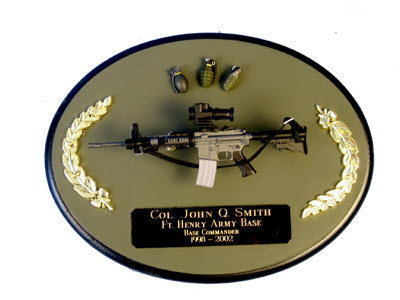 U.S.Army M4 on painted wood plaque - Click Image to Close