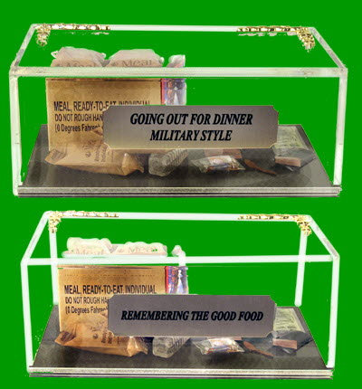 "Miniature food MRE Packet ( the good meals remembered) or as some would say ""dining out G.I. style. - Click Image to Close"