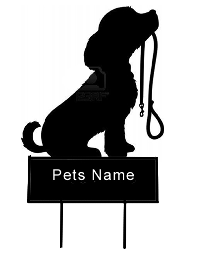 Dog with leash grave marker - Click Image to Close