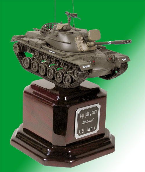 U.S.Army M-48 tank on Rosewood base - Click Image to Close