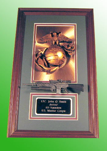 Marine corps copper plaque - Click Image to Close