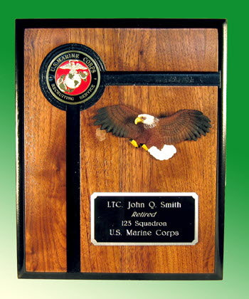 U.S.M.C. Recruiter plaque w/eagle