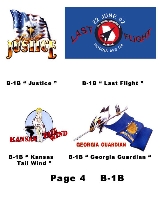 B-1B Nose Art for mini helmets - Click Image to Close