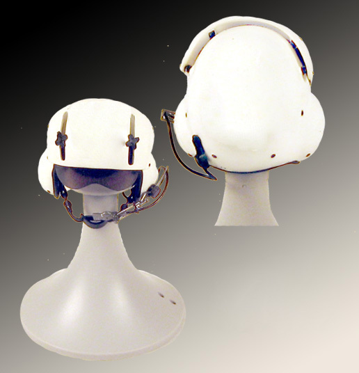 Plain white helicopter helmet - Click Image to Close