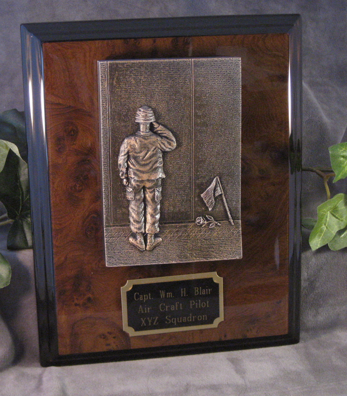 military plaque presentation --At the Wall - Click Image to Close