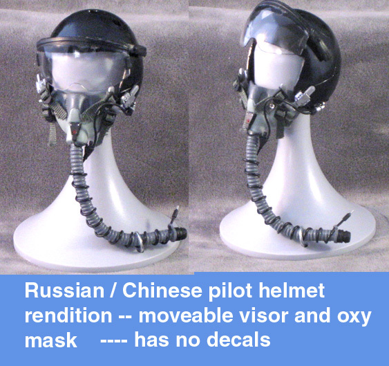 Russian / Chinese pilot helmet 1/6 th - Click Image to Close