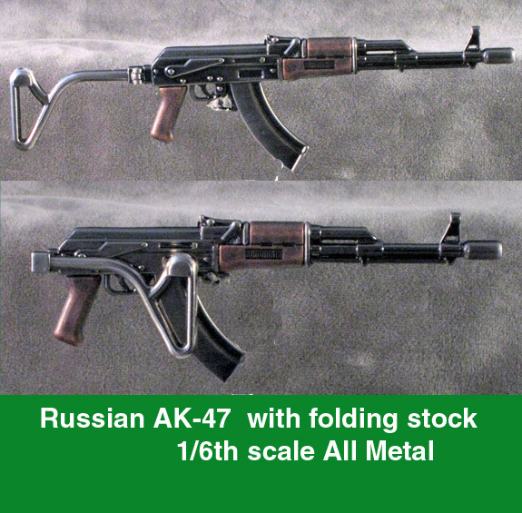 Russian AK-47 with folding stock ALL METAL - Click Image to Close