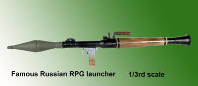 1/3 rd scale RPG Launcher - Click Image to Close