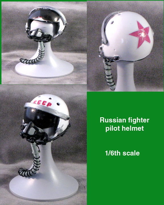 1/6 Russian fighter pilot helmet - Click Image to Close