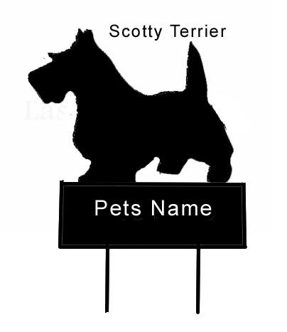 Scotty Terrier dog Grave Marker - Click Image to Close