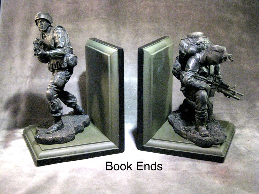 Soldier book ends Army - Click Image to Close