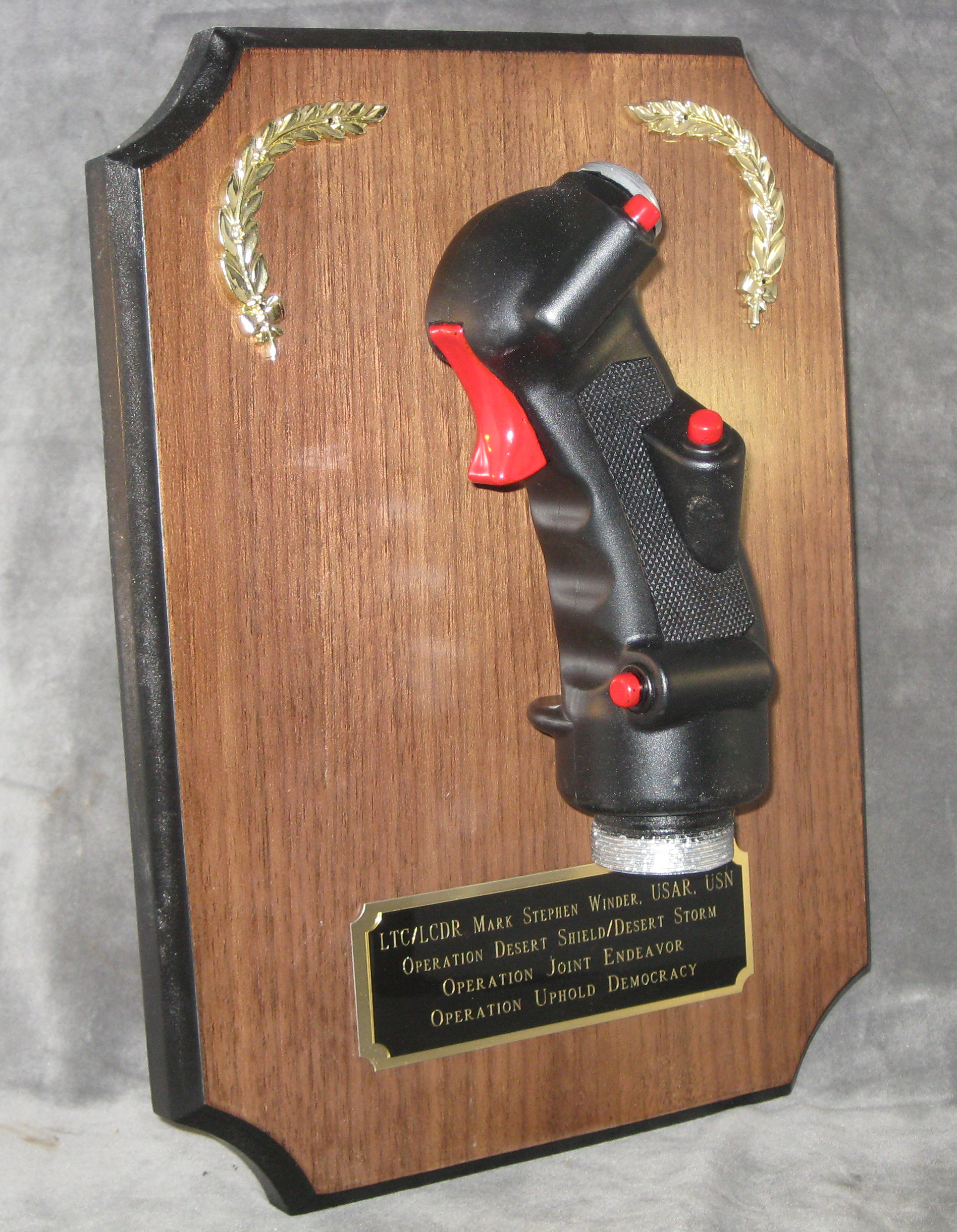 Aviation wall plaque--stick grip - Click Image to Close