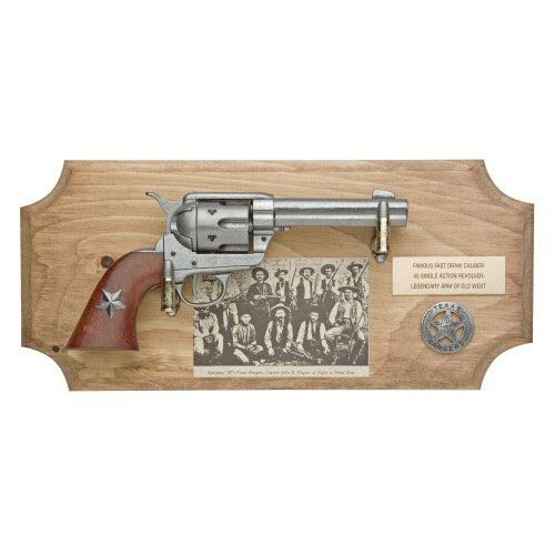 Texas Ranger six shooter ( framed ) METAL - Click Image to Close
