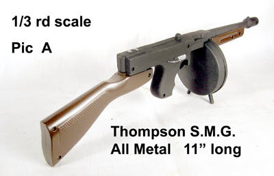 U.S. Thompson sub machine gun ( Gangster style ) - Click Image to Close