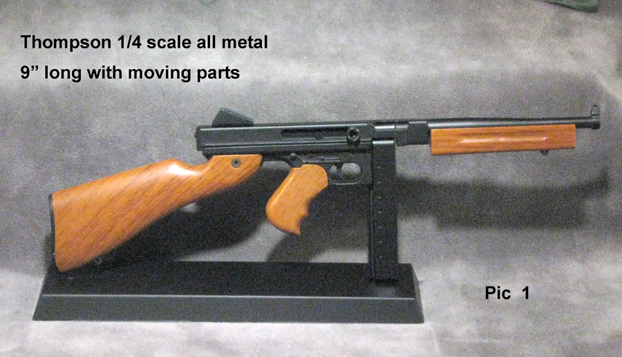 1/3 scale Thompson ( moving parts all metal ) - Click Image to Close