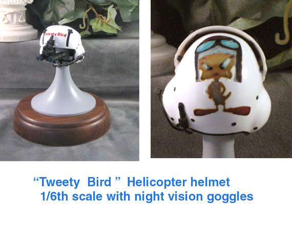 """ Tweety Bird "" helicopter helmet - Click Image to Close"
