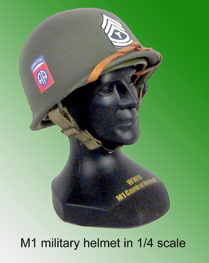 M1 U.S. Army 1/4 scale helmet 82 airborne - Click Image to Close