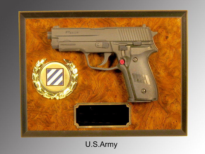 Wall gun plaque - Click Image to Close