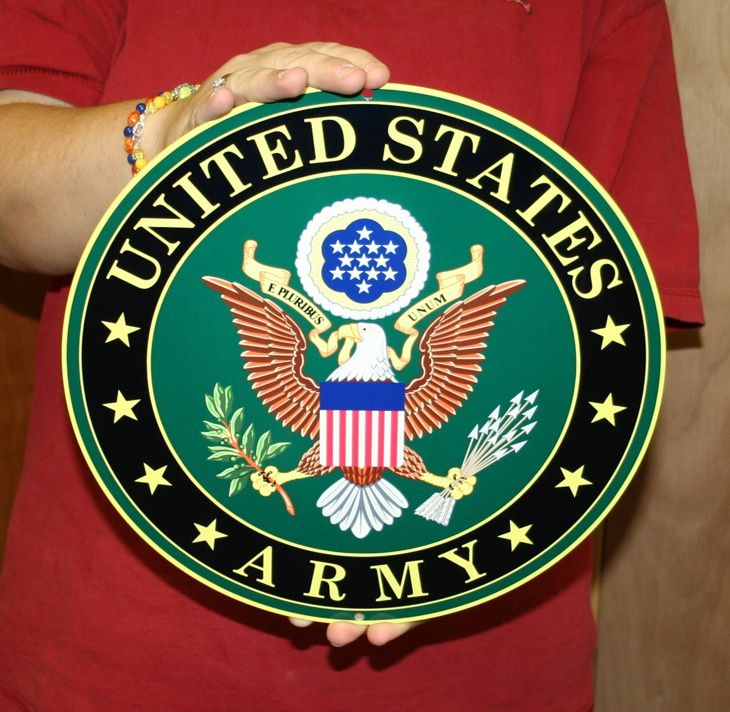 U.S. Army Round logo sign - Click Image to Close