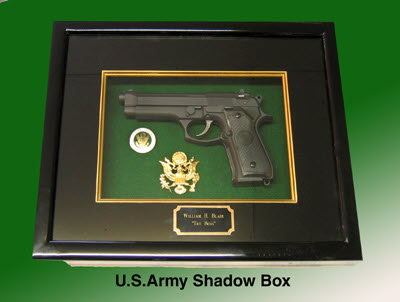 U.S.Army Pistol shadow box - Click Image to Close