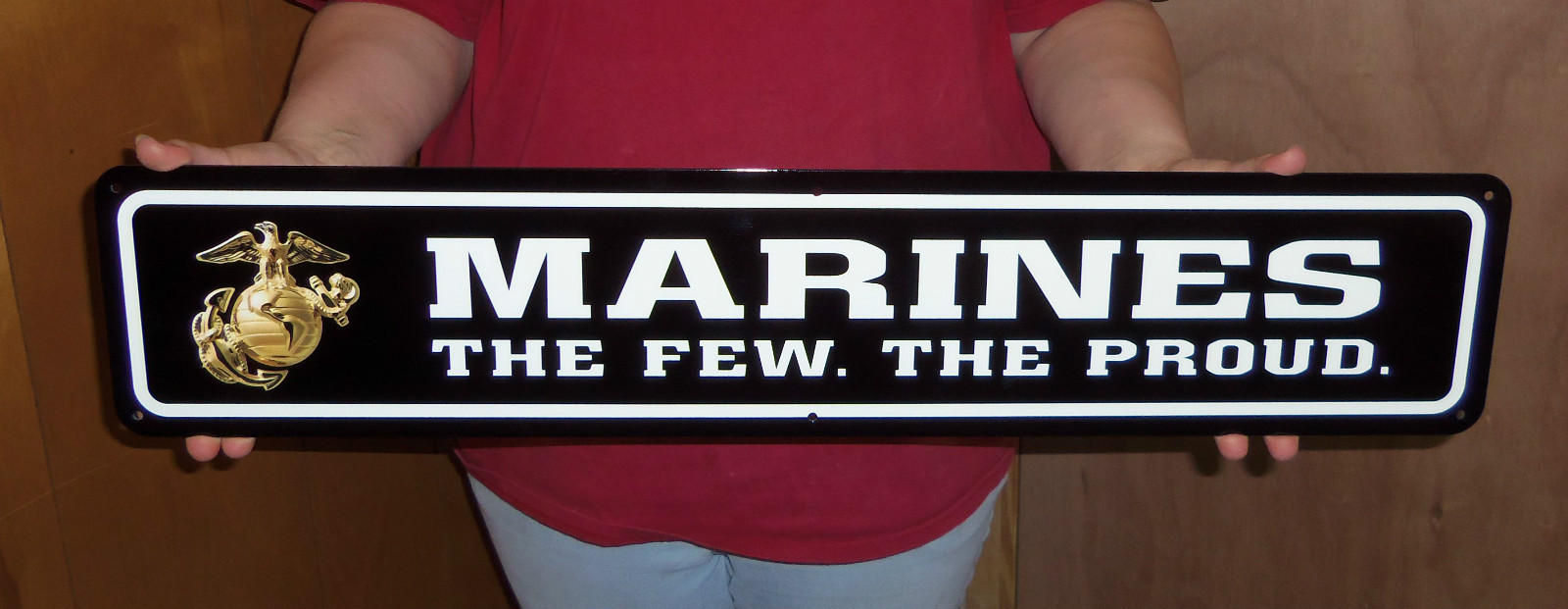 USMC Double sided mail box sign ( enlisted ) - Click Image to Close