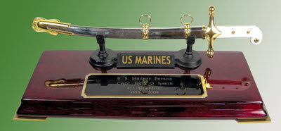 U.S.Marine Corps letter opener on Rosewood - Click Image to Close
