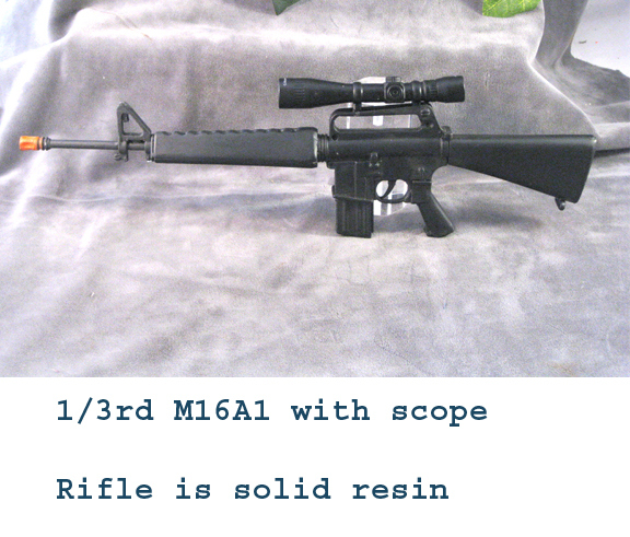 M16A1 with new style scope Resin - Click Image to Close