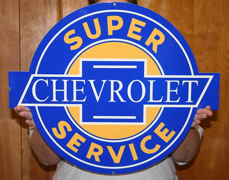 Chevy super service sign - Click Image to Close