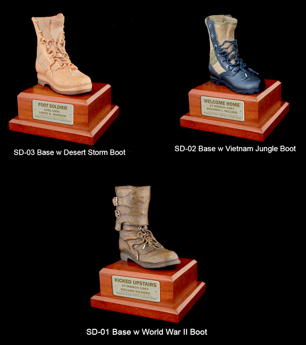 U.S. Military 1/4 scale Boot on Base - Click Image to Close