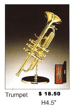 Miniature Musical Instruments - Trumpet