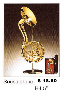 Miniature Musical Instruments - Sousa Phone - Click Image to Close