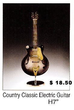 Miniature Country classic elec guitar - Click Image to Close
