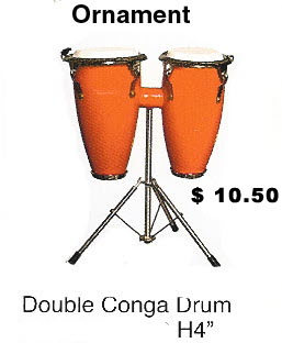 miniature Double Congo drum